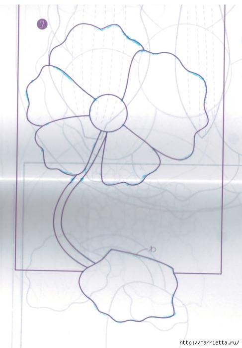 Текстильное панно с цветком (7) (487x700, 152Kb)