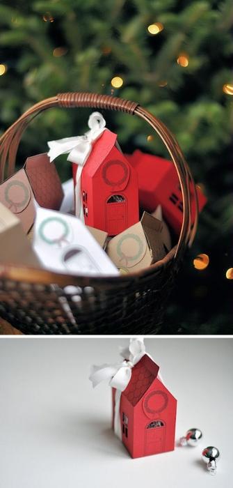Новогодние коробочки для подарков. Идеи, шаблоны, мастер ...: http://best-hand-made.net/post298830392/