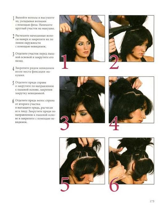 Пошаговая инструкция укладки волос феном