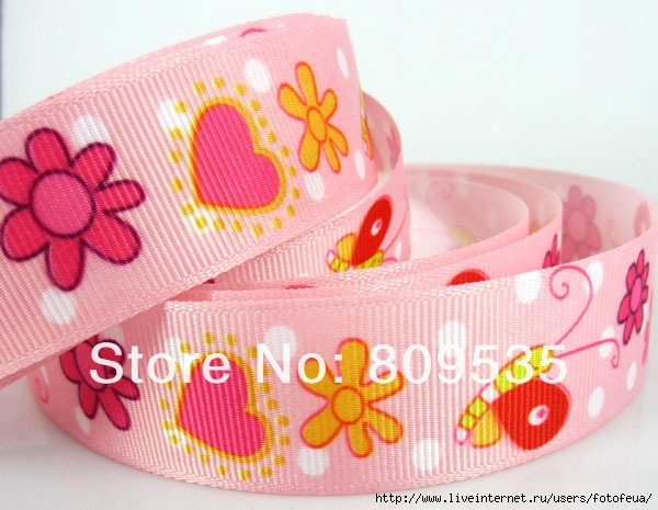 Free-Shipping-1-25mm-Printed-Snail-Flower-Heart-pattern-Grosgrain-Ribbon-25yards (600x465, 184Kb)