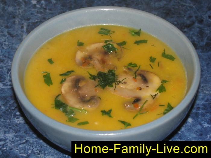 Суп из тыквы с грибами рецепты приготовления