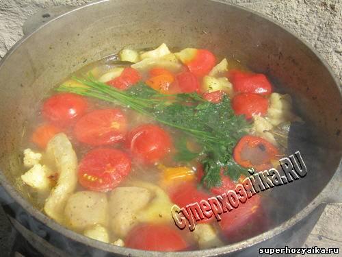Рецепт жаркого в горшочках из курицы171