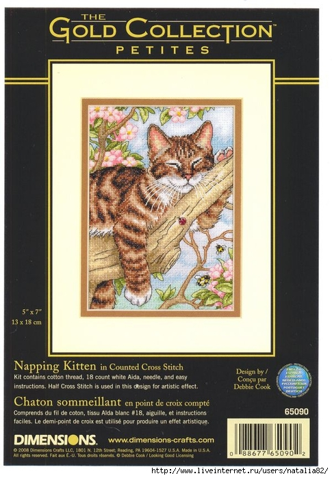 Dimensions 65090 Napping kitten (485x700, 261Kb)