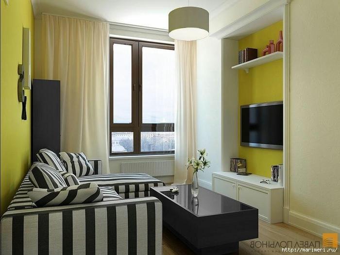 Маленькая квадратная комната как расставить мебель / старый .