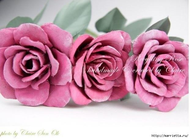 Самые красивые розы из яичных лотков. Мастер-класс (1) (621x454, 147Kb)