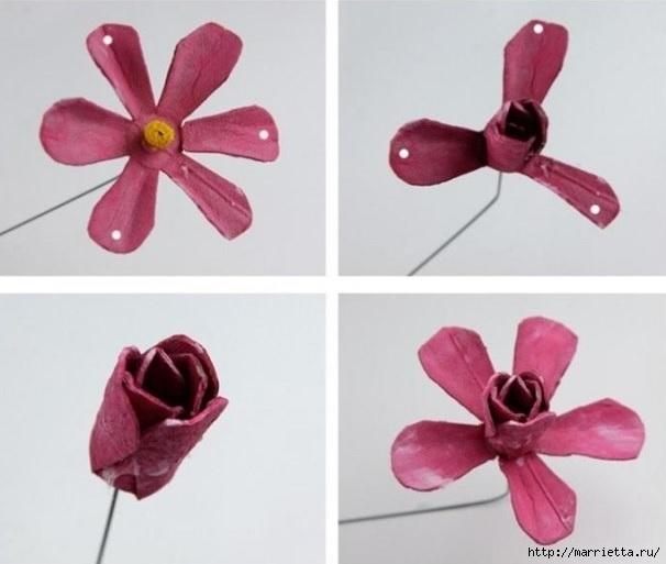 Самые красивые розы из яичных лотков. Мастер-класс (7) (606x513, 101Kb)