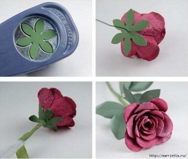Самые красивые розы из яичных лотков. Мастер-класс (9) (613x518, 127Kb)