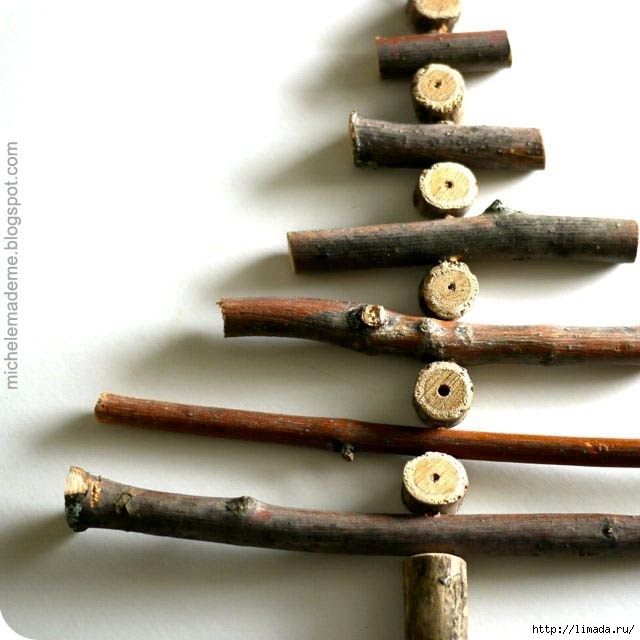 Wooden Stick Christmas Tree close (640x640, 158Kb)