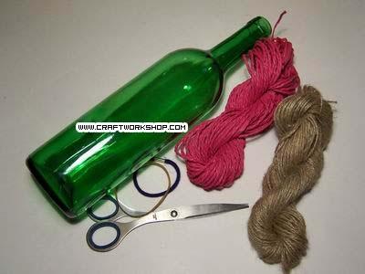 Оплетаем бутылку. Плетение джутом (1) (400x300, 67Kb)