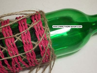 Оплетаем бутылку. Плетение джутом (22) (400x300, 78Kb)