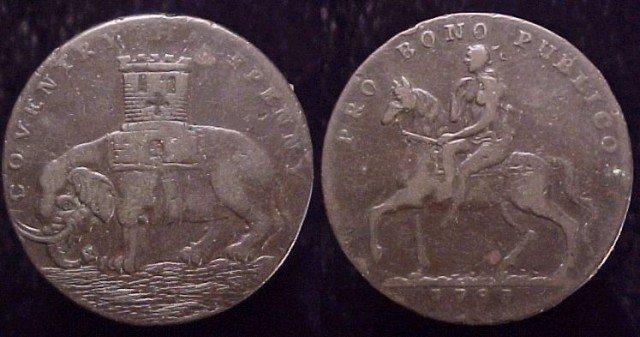 Монета Ковентри (полупенни) с изображением леди Годивы. 1793. (640x337, 50Kb)