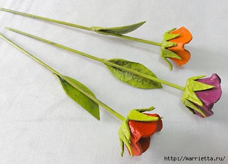 красота из картона- цветы из яичных лотков (14) (450x323, 88Kb)