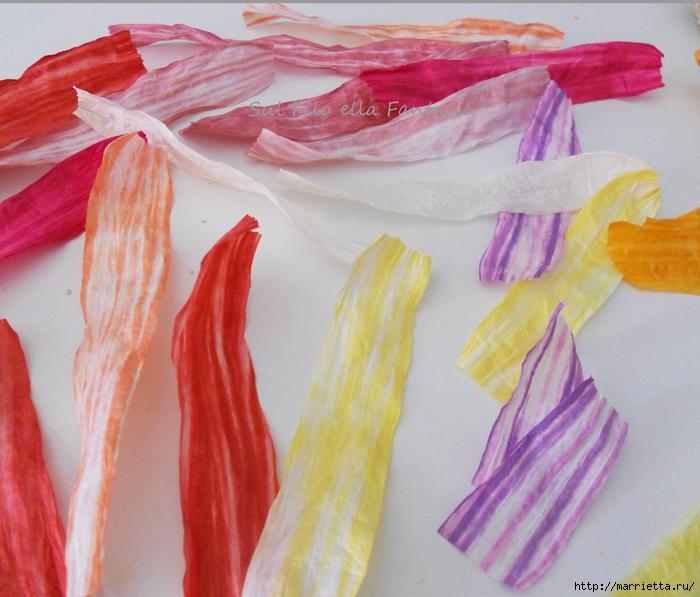 Ароматные корзиночки. Одежка для мыла из бумажной рафии (7) (700x597, 292Kb)