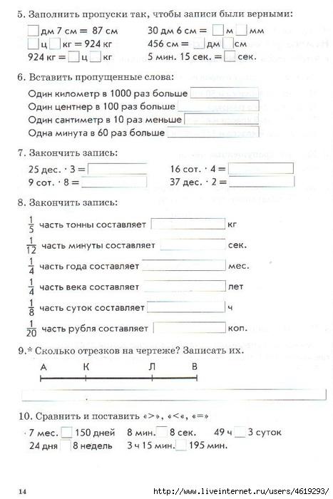 Класс язык т знаний ответы гдз тематический контроль 4 в русский голубь