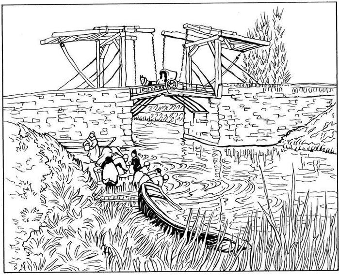 Ophaalbrug bij Arles 1888 (700x569, 309Kb)