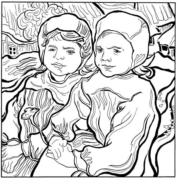 Twee kleine meisjes 1890 (583x589, 275Kb)