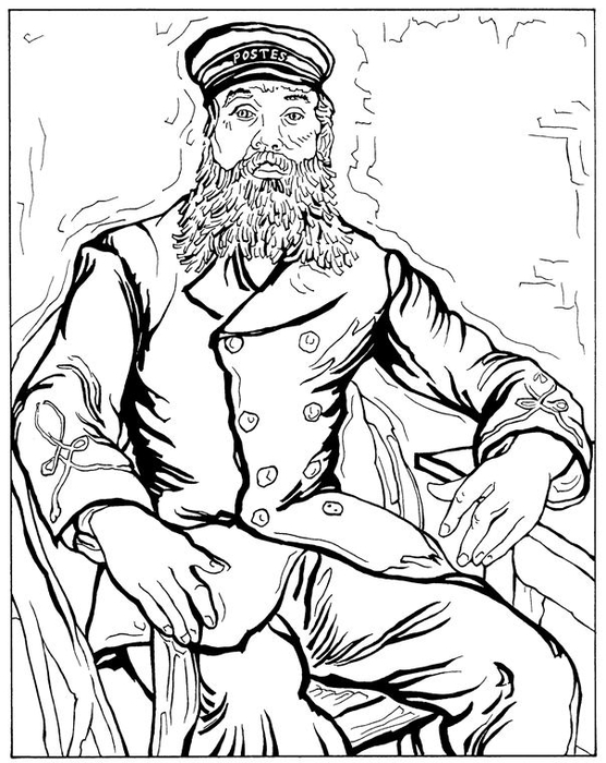 Postbode Joseph Roulin 1888 (556x700, 230Kb)