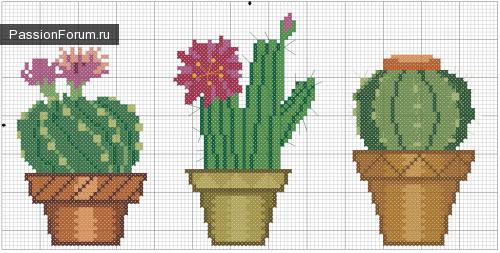Схемы вышивки с кактусами 892