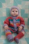 шерстяной комбинезон с шапочкой и носочками