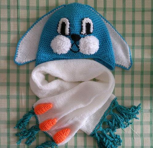 Вязание шапки для мальчика с мордочкой
