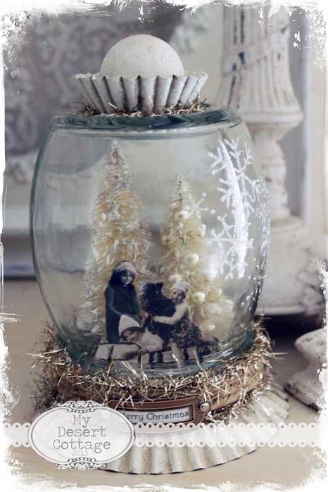 Снежные шары своими руками с фото
