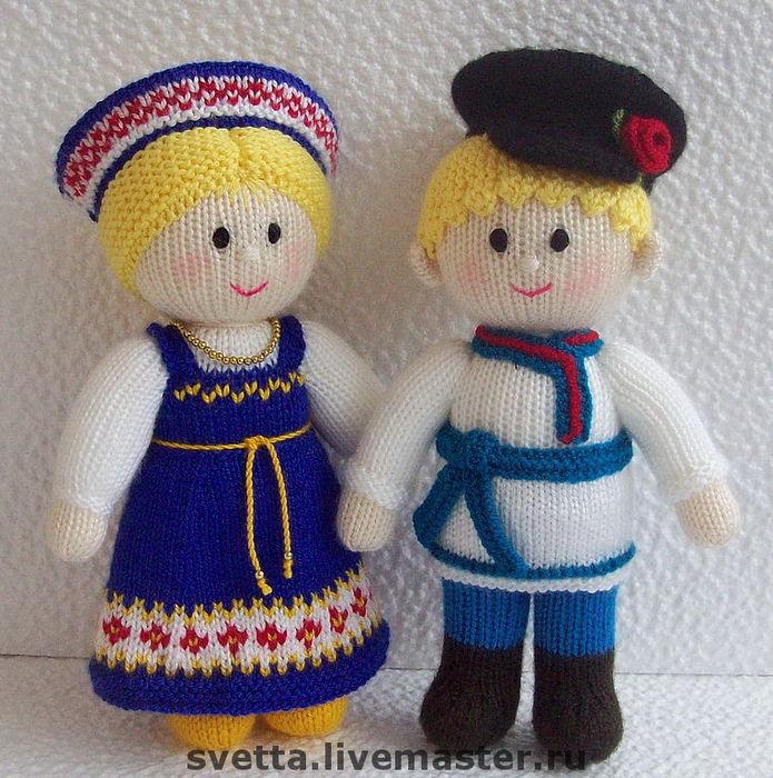 Куклы в народных костюмах крючком