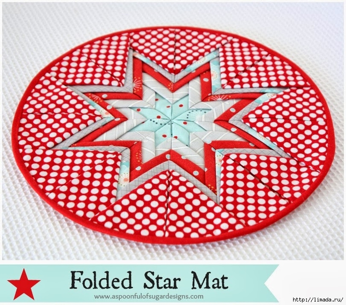 Folded Star Mat   1 (1) (700x616, 391Kb)