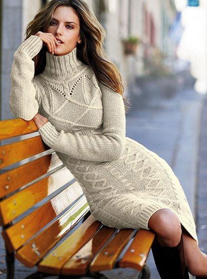 вязаное платье - Самое