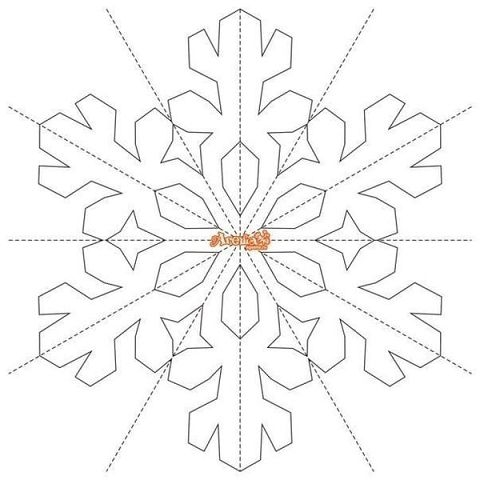 Новогодние трафареты снежинки из бумаги своими руками