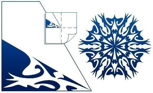 Схемы снежинок из бумаги.