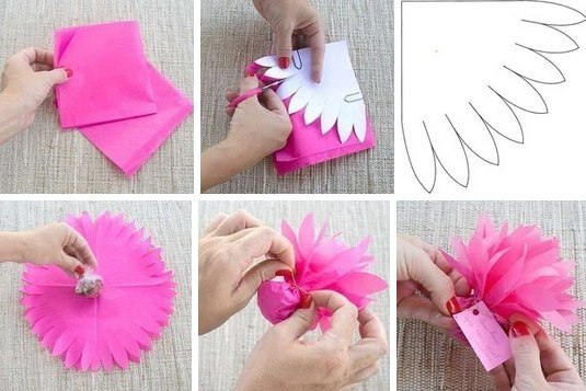 Упаковка подарка своими руками из гофрированной бумаги