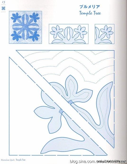 ГАВАЙСКИЙ КВИЛТ. Японский журнал со схемами (17) (535x690, 156Kb)
