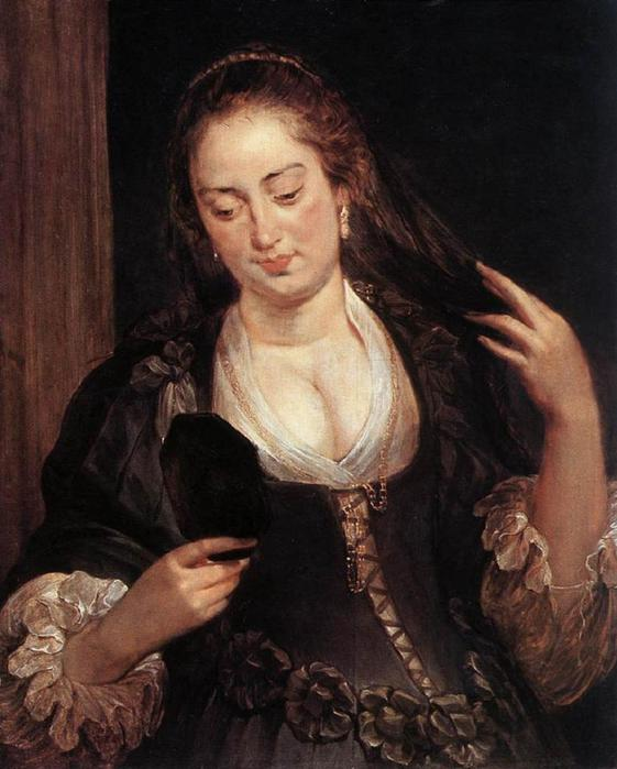 Peter Paul Rubens - Woman with a mirror (1640) (561x700, 51Kb)