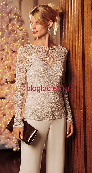 Элегантный журный пуловер (1) (321x600, 76Kb)