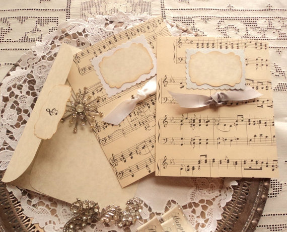 Открытки своими руками с нотами