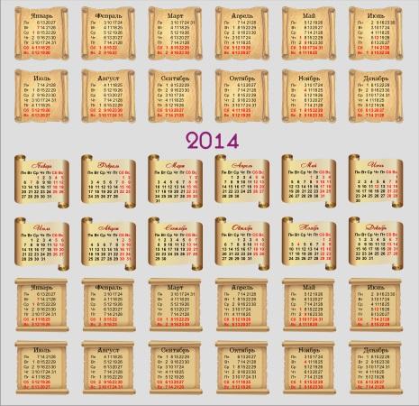 Календарные сетки 2014 свитки, 11 png