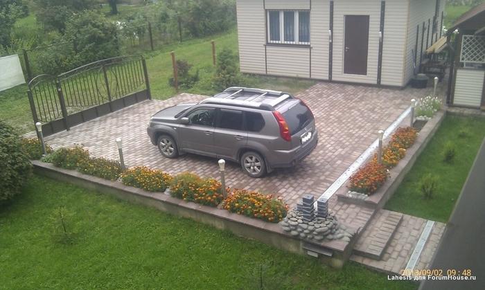 Стоянка авто на даче своими руками 2