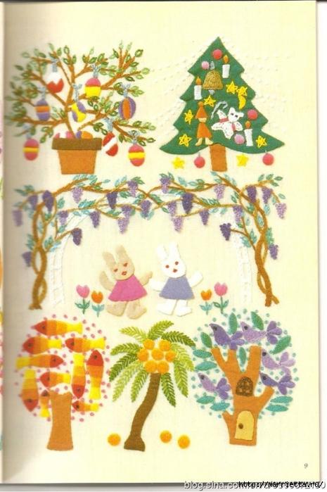 Аппликация с вышивкой для детских вещей. Японский журнал (5) (465x700, 250Kb)