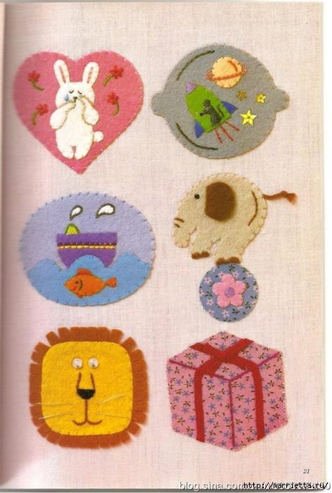 Аппликация с вышивкой для детских вещей. Японский журнал (11) (472x700, 260Kb)