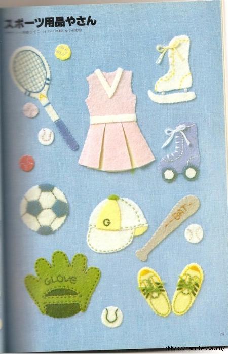 Аппликация с вышивкой для детских вещей. Японский журнал (23) (450x700, 254Kb)
