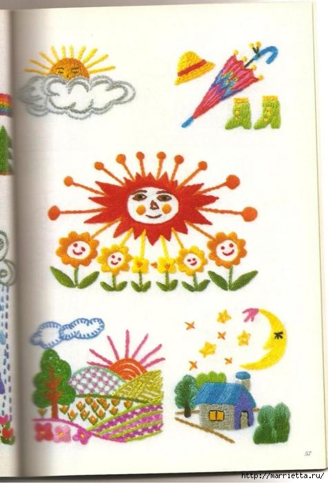 Аппликация с вышивкой для детских вещей. Японский журнал (29) (476x700, 220Kb)