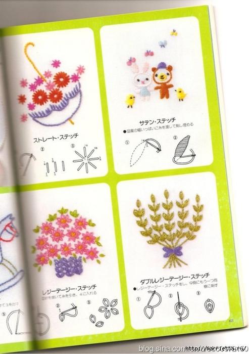 Аппликация с вышивкой для детских вещей. Японский журнал (33) (493x700, 220Kb)