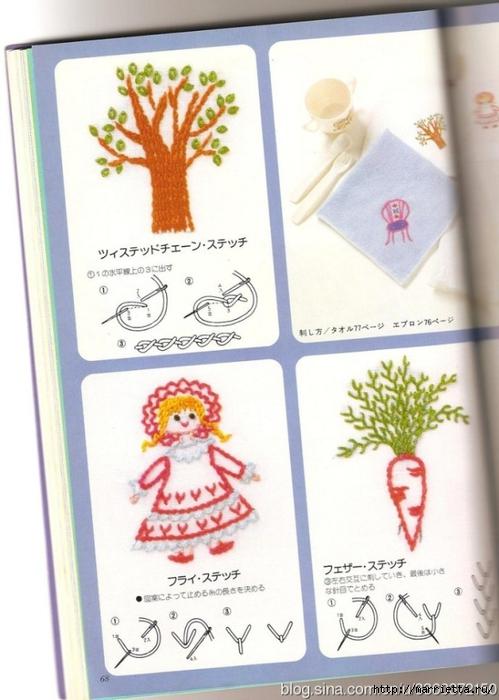 Аппликация с вышивкой для детских вещей. Японский журнал (36) (499x700, 226Kb)