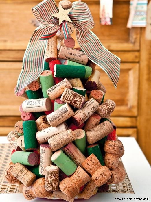 Árvore de Natal Criativo de rolhas de vinho (1) (522x700, 340KB)