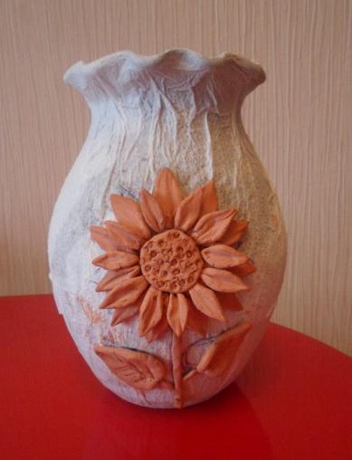 Декорирование вазочки самозатвердевающей массой керапласт (3) (389x508, 386Kb)