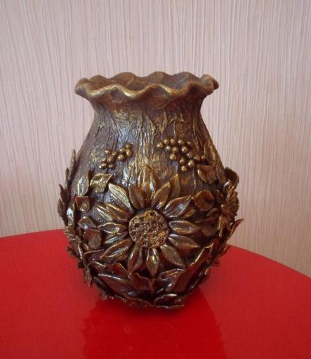 Декорирование вазочки самозатвердевающей массой керапласт (8) (443x511, 443Kb)