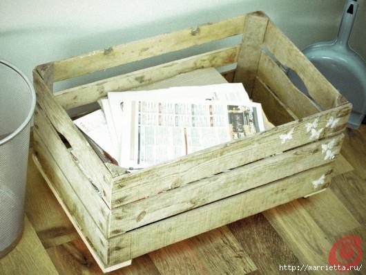 Деревянный ящик в интерьере (3) (530x398, 141Kb)