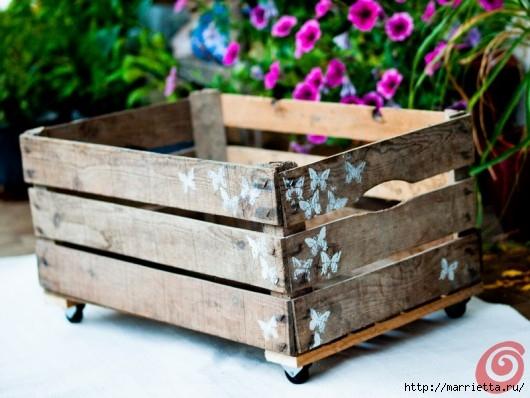 Деревянный ящик в интерьере (17) (530x398, 141Kb)