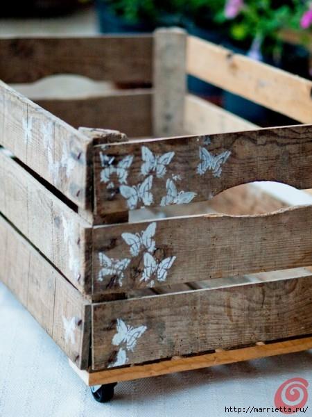Деревянный ящик в интерьере (18) (450x600, 172Kb)