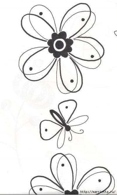 Подушки из мешковины и бархата с цветочной вышивкой (2) (401x665, 107Kb)